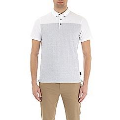 Burton - White glitchy print polo shirt