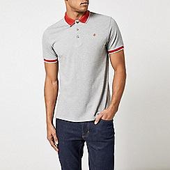 Burton - Grey polo shirt with contrast