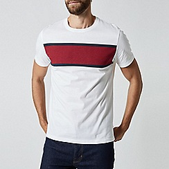 Burton - White T-Shirt With Red Chest Block Print
