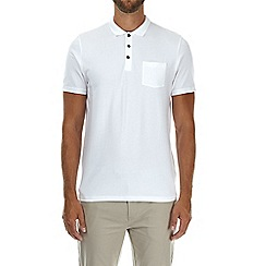 Burton - White stretch polo shirt