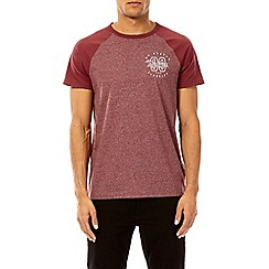 Burton - Berry '89' chest print raglan t-shirt