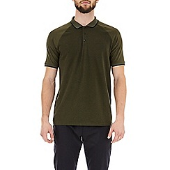 Burton - Khaki grindle short sleeve raglan polo shirt