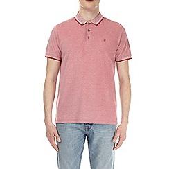 Burton - Geranium two-tone pique polo shirt