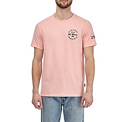 Burton - Pink nyc chest and sleeve print t-shirt