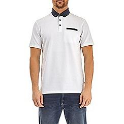 Burton - White popcorn texture polo shirt