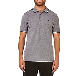 Burton - Black two-tone pique polo shirt