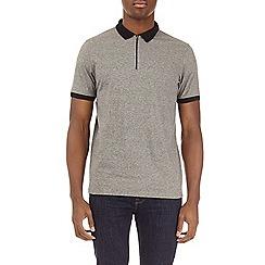 Burton - Grey grindle feeder striped polo shirt