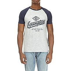 Burton - Grey texture lexington print raglan t-shirt