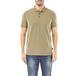 Burton - Khaki stretch polo shirt