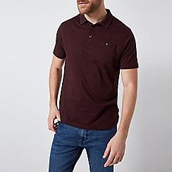 Burton - 2 Pack Burgundy and Khaki Jersey Polo Shirt