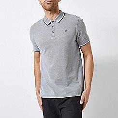 Burton - Grey Two-Tone Pique Polo Shirt