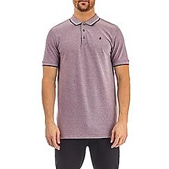Burton - Burgundy bruise two-tone pique polo shirt