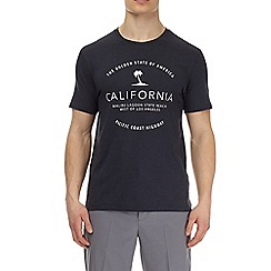 Burton - Navy california print t-shirt
