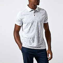 Burton - White Palm Print Polo Shirt