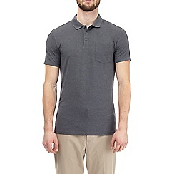 Burton - Charcoal muscle fit polo shirt