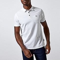 Burton - 2 Pack Navy and White Jersey Polo Shirt