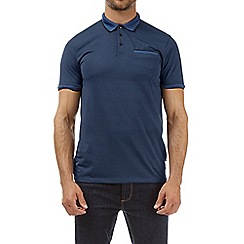 Burton - Blue feeder stripe popper polo shirt