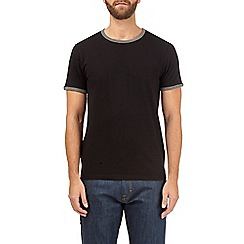 Burton - Black and charcoal ringer t-shirt