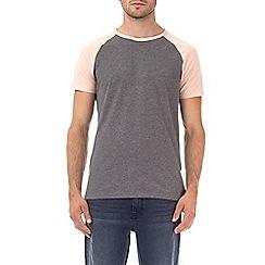Burton - Peach and charcoal raglan t-shirt