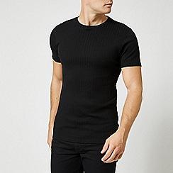 Burton - Black Short Sleeve Rib T-Shirt