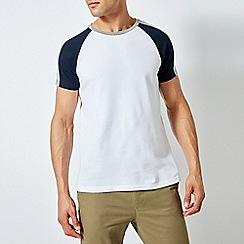 Burton - Navy And White Popcorn Raglan T-Shirt