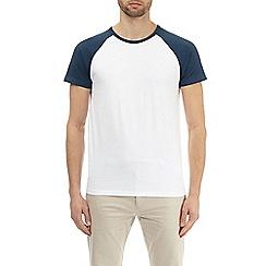Burton - Atlantic blue and white raglan t-shirt