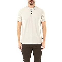 Burton - Light grey stretch polo shirt