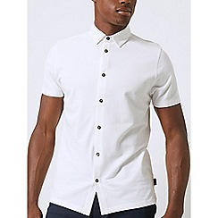 Burton - White short sleeve pique shirt