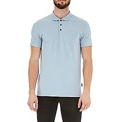 Burton - Blue fog short sleeve muscle fit polo shirt