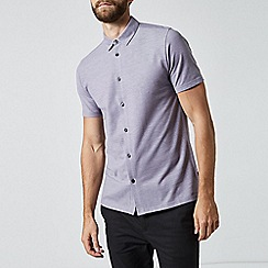 Burton - Violet two tone short sleeve shirt