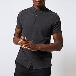 Burton - Grey short sleeve pique shirt