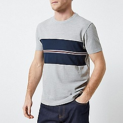 Burton - Grey And Navy Blocking T-Shirt With Chest Tape
