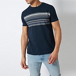 Burton - Navy Chest Stripe T-Shirt