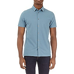 Burton - Surf blue short sleeve pique shirt