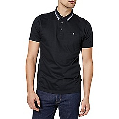 Burton - Black taped collar polo shirt