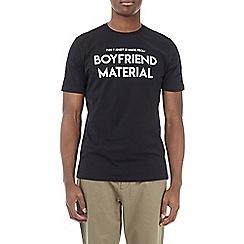 Burton - Black 'boyfriend material' t-shirt