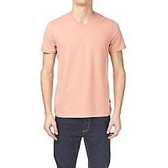 Burton - Hot coral v-neck t-shirt