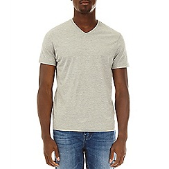 Burton - Grey marl v-neck t-shirt