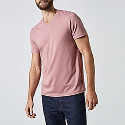 Burton - Nostalgic rose pink v-neck t-shirt