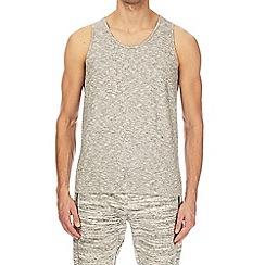 Burton - Ecru nepp textured vest