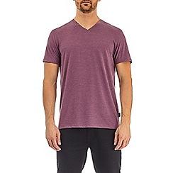 Burton - Burgundy marl v-neck t-shirt