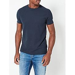 Burton - Navy waffle textured t-shirt