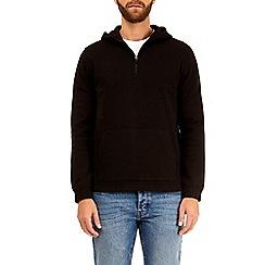 Burton - Black quarter zip scuba hoodie