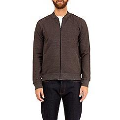 Burton - Charcoal marl jersey bomber jacket