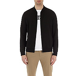 Burton - Black perforated bomber jacket