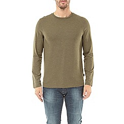 Burton - Light khaki marl long sleeve t-shirt