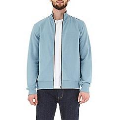 Burton - Light blue zip-through funnel neck sweatshirt