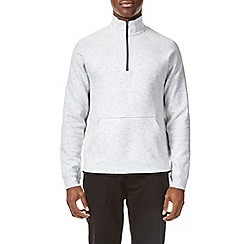 Burton - Frost fabric interest quarter zip funnel neck sweatshirt