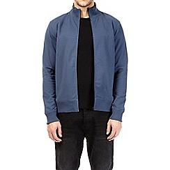 Burton - Navy zip-through funnel neck sweatshirt