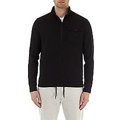 Burton - Black chest pocket funnel neck zip through jacket